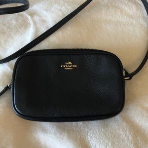 Coach Pebble Leather Multiple section Crossbody
